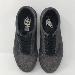 Vans Women's Ol Skool Low Black Glitter